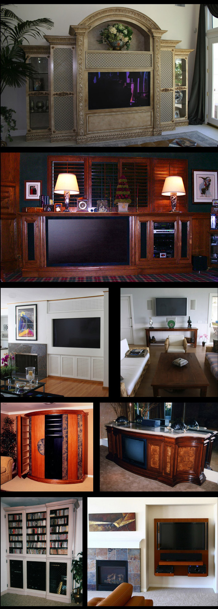 Custom Built Media Room Furniture, TV Wall Panels, TV ...