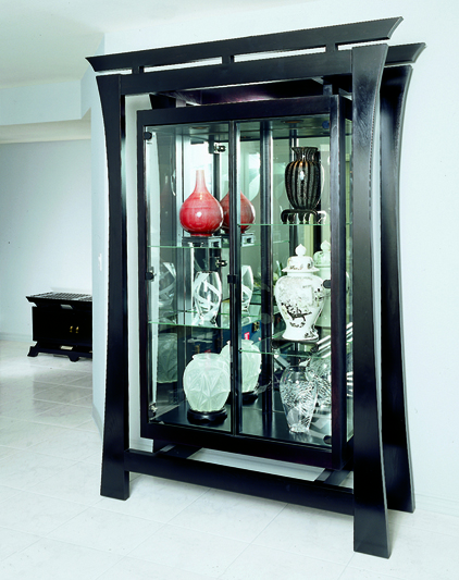 Custom Made Display Case, Asian Display Case, Asian Curio Cabinet, Art  Display Cases